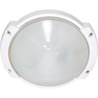 Nuvo 60/516 Signature 1 Light 9 inch Semi Gloss white Outdoor Wall Lantern Oblong Round
