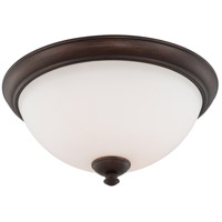 Patton 3 Light 16 inch Prairie Bronze Flush Mount Ceiling Light