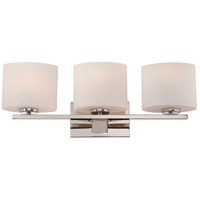 Breeze 3 Light 24 inch Polished Nickel Vanity Light Wall Light