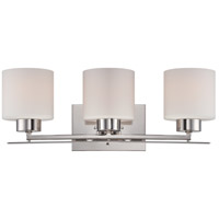 Parallel 3 Light 21 inch Polished Nickel Vanity Light Wall Light