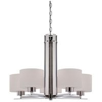 Nuvo Lighting Parallel 5 Light Chandelier in Polished Nickel 60/5205
