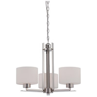 Nuvo 60/5206 Parallel 3 Light 23 inch Polished Nickel Chandelier Ceiling Light