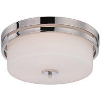 Nuvo Lighting Parallel 3 Light Flush Mount in Polished Nickel 60/5207