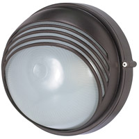 Nuvo 60/521 Signature 1 Light Architectural Bronze Outdoor Wall Lantern Round Hood