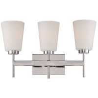Benson 3 Light 19 inch Polished Nickel Vanity Light Wall Light
