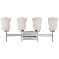 Nuvo Lighting Benson 4 Light Vanity Light in Polished Nickel 60/5214