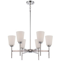 Benson 6 Light 27 inch Polished Nickel Chandelier Ceiling Light