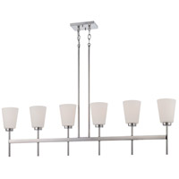 Benson 6 Light 49 inch Polished Nickel Pendant Ceiling Light