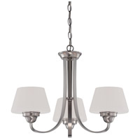 Ludlow 3 Light 22 inch Brushed Nickel Chandelier Ceiling Light