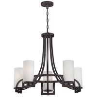 Daytona 5 Light 27 inch Russet Bronze Chandelier Ceiling Light