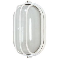 Nuvo Lighting Signature 1 Light Outdoor Wall Lantern in Semi Gloss white 60/524