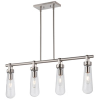 Beaker 4 Light 36 inch Brushed Nickel Pendant Ceiling Light