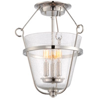 Latham 3 Light 16 inch Polished Nickel Semi-Flush Mount Ceiling Light