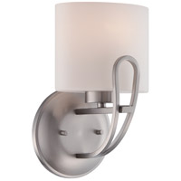 lola 1 light 7 inch brushed nickel vanity light wall light. Black Bedroom Furniture Sets. Home Design Ideas