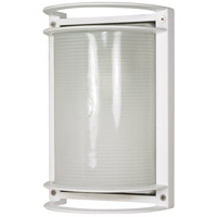 Nuvo 60/530 Signature 1 Light 10 inch Semi Gloss white Outdoor Wall Lantern, Rectangle photo thumbnail