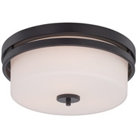 Nuvo Lighting Parallel 3 Light Flush Mount in Aged Bronze 60/5307