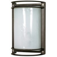 Nuvo 60/531 Signature 1 Light 10 inch Architectural Bronze Outdoor Wall Lantern, Rectangle photo thumbnail