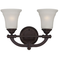 Monroe 2 Light 15 inch Georgetown Bronze Vanity Light Wall Light
