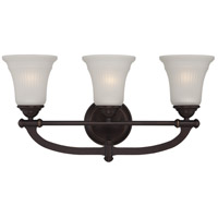 Monroe 3 Light 22 inch Georgetown Bronze Vanity Light Wall Light