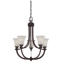 Nuvo Monroe 5 Light Chandelier in Georgetown Bronze 60/5315