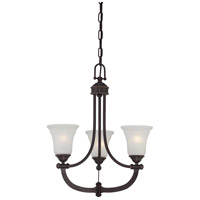 Monroe 3 Light 21 inch Georgetown Bronze Chandelier Ceiling Light