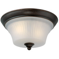 Monroe 2 Light 13 inch Georgetown Bronze Flush Mount Ceiling Light