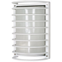Nuvo 60/532 Signature 1 Light 10 inch Semi Gloss white Outdoor Wall Lantern, Rectangle photo thumbnail