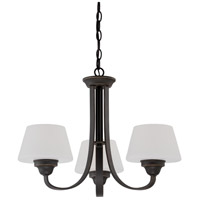 Ludlow 3 Light 22 inch Russet Bronze Chandelier Ceiling Light