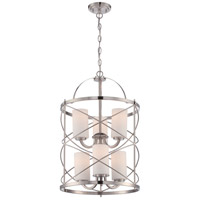 Nuvo 60/5329 Ginger 6 Light 16 inch Brushed Nickel Chandelier Ceiling Light