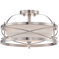Nuvo Ginger 2 Light Semi-Flush Mount in Brushed Nickel 60/5331