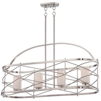Ginger 4 Light 12 inch Brushed Nickel Pendant Ceiling Light