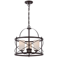 Ginger 3 Light 16 inch Old Bronze Pendant Ceiling Light