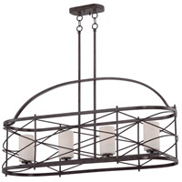 Nuvo 60/5338 Ginger 4 Light 38 inch Old Bronze Island Pendant Ceiling Light