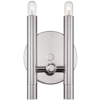 Nuvo Lighting Telegraph 2 Light Vanity Light in Polished Nickel 60/5341