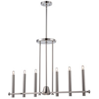 Telegraph 7 Light 38 inch Polished Nickel Pendant Ceiling Light