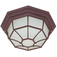 Nuvo Lighting Signature 1 Light Outdoor Flushmount in Old Bronze 60/535