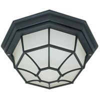 Nuvo Lighting Signature 1 Light Outdoor Flushmount in Textured Black 60/536