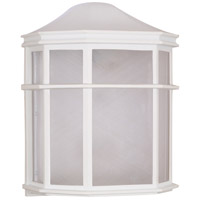 Nuvo Lighting Signature 1 Light Outdoor Wall Lantern in White 60/537 photo thumbnail