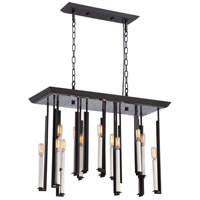 Nuvo Zanzibar 16 Light Chandelier in Textured Black and Antique Nickel 60/5388