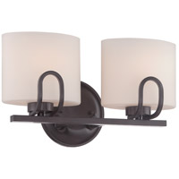 Lola 2 Light 15 inch Georgetown Bronze Vanity Light Wall Light