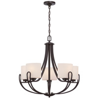 Nuvo Lola 5 Light Chandelier in Georgetown Bronze 60/5395