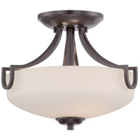Lola 2 Light 12 inch Georgetown Bronze Semi-Flush Mount Ceiling Light