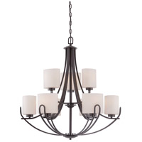 Lola 9 Light 30 inch Georgetown Bronze Chandelier Ceiling Light
