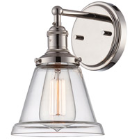 Nuvo Lighting Vintage 1 Light Wall Sconce in Polished Nickel 60/5412