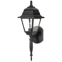 Nuvo Lighting Briton 1 Light Outdoor Wall Lantern in Textured Black 60/542