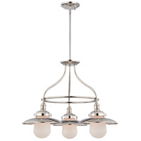Bayport 3 Light 26 inch Polished Nickel Chandelier Ceiling Light, supplied with (2) 6