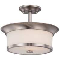 Mobili 2 Light 13 inch Brushed Nickel Semi-Flush Mount Ceiling Light