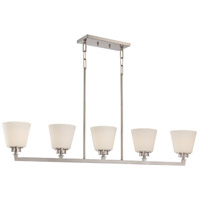 Nuvo Mobili 5 Light Pendant in Brushed Nickel 60/5455