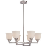 Mobili 6 Light 28 inch Brushed Nickel Chandelier Ceiling Light