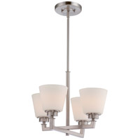 Nuvo Mobili 4 Light Chandelier in Brushed Nickel 60/5458
